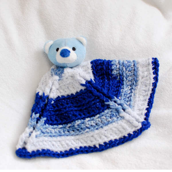 """Top This"" Bear Crochet Lovey Pattern 