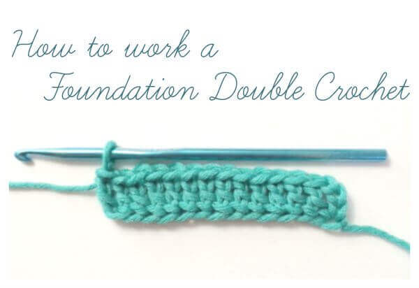 How To Work A Foundation Double Crochet Photo Tutorial Petals To