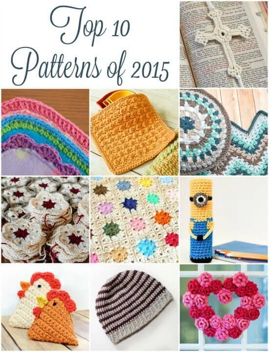 Top 10 Patterns of 2015 | www.petalstopicots.com| #crochet