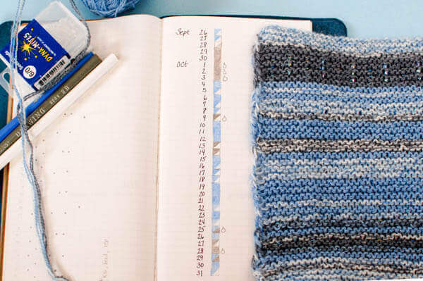 Knit the Sky and Weather Journaling