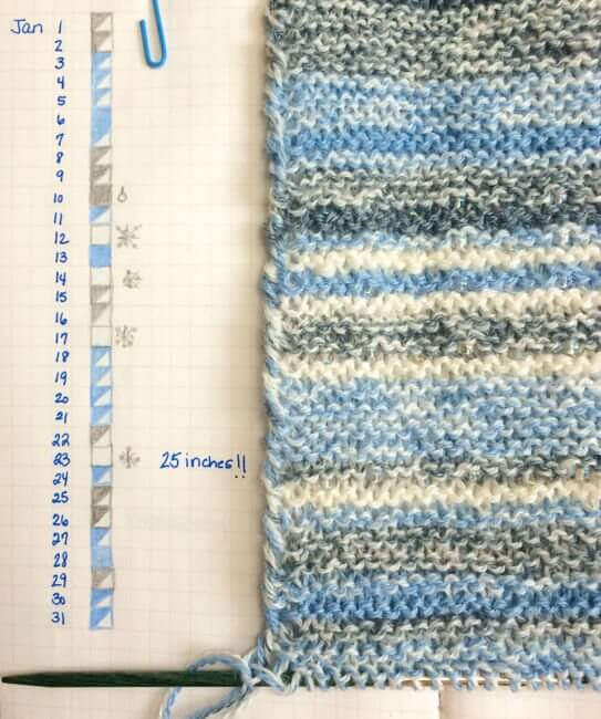 Sky Scarf - January Progress