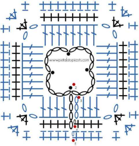 Crochet Clover Afghan Square Pattern | www.petalstopicots.com