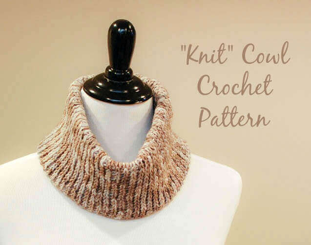 Knit Crochet Cowl Pattern Petals To Picots