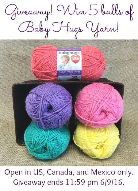 Yarn Giveaway ... Win 5 Balls of Baby Hugs!