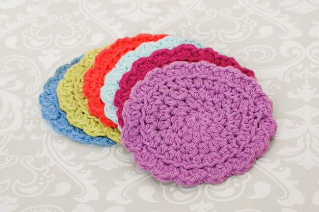 Easy Summer Crochet Coaster Set Free Pattern Petals To Picots