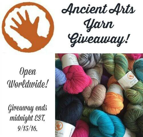 Ancient Arts Yarn Giveaway ... ends midnight 9/15/16