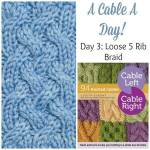A Cable A Day: Loose 5 Rib Braid