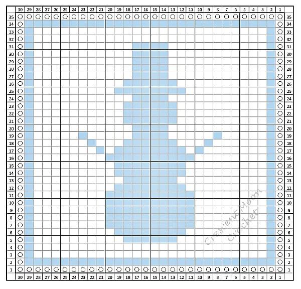 Tunisian Crochet Snowman Dishcloth Pattern
