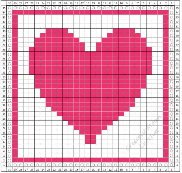 Tunisian Crochet Monthly Dishcloth Crochet Along .... February #P2PdishclothCAL
