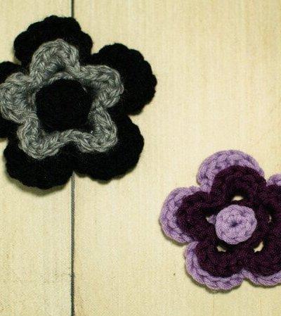 Stacked Flower Crochet Pattern