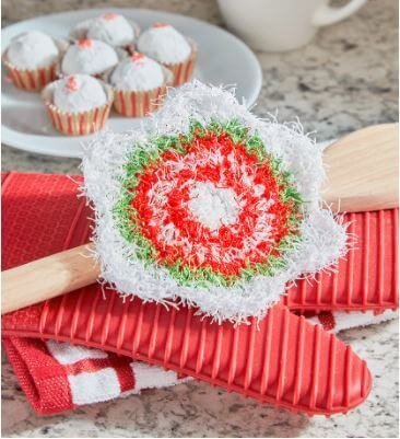 New Christmas Crochet Scrubby Patterns on Red Heart | Holiday Star Scrubby