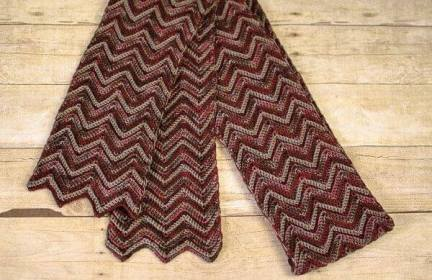 Three Color Crochet Ripple Scarf Pattern Petals To Picots