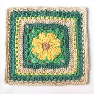 Daisy Afghan Square Crochet Pattern
