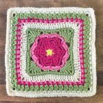 Dahlia Bloom Afghan Square Crochet Pattern
