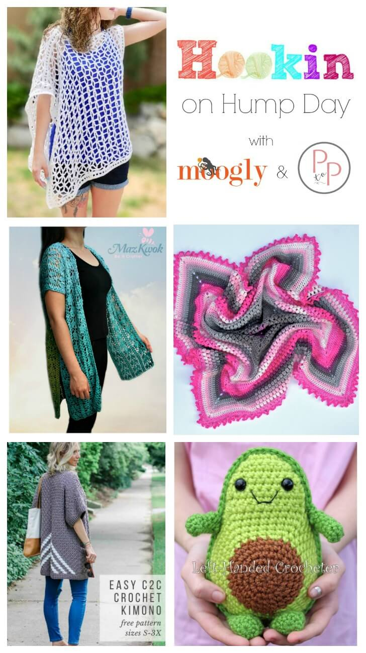 See whats trending in the fiber world! The latest Hookin' on Hump Day is live ... lots of great crochet and knit patterns.
