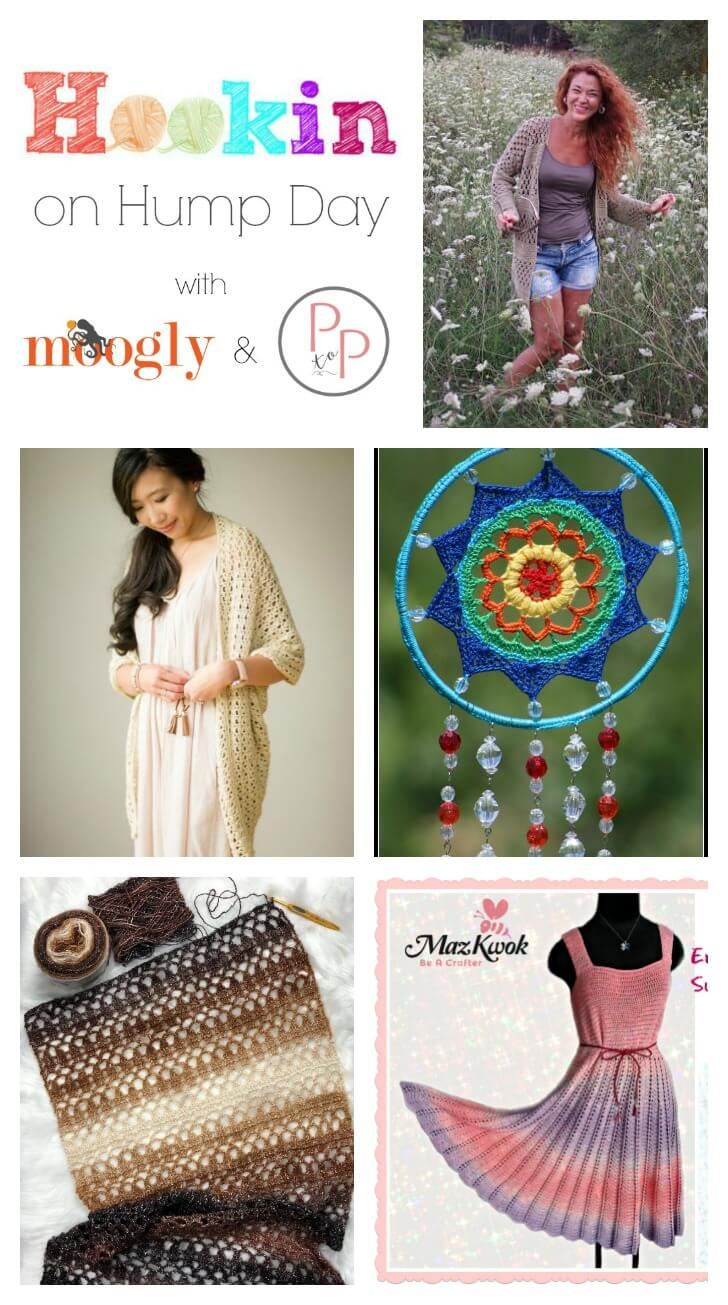 See whats trending in the fiber world! The latest Hookin' on Hump Day is live ... lots of great crochet and knit patterns. #petalstopicots