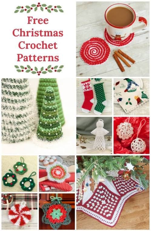 Christmas Crochet ... From Dining to Decor | www.petalstopicots.com
