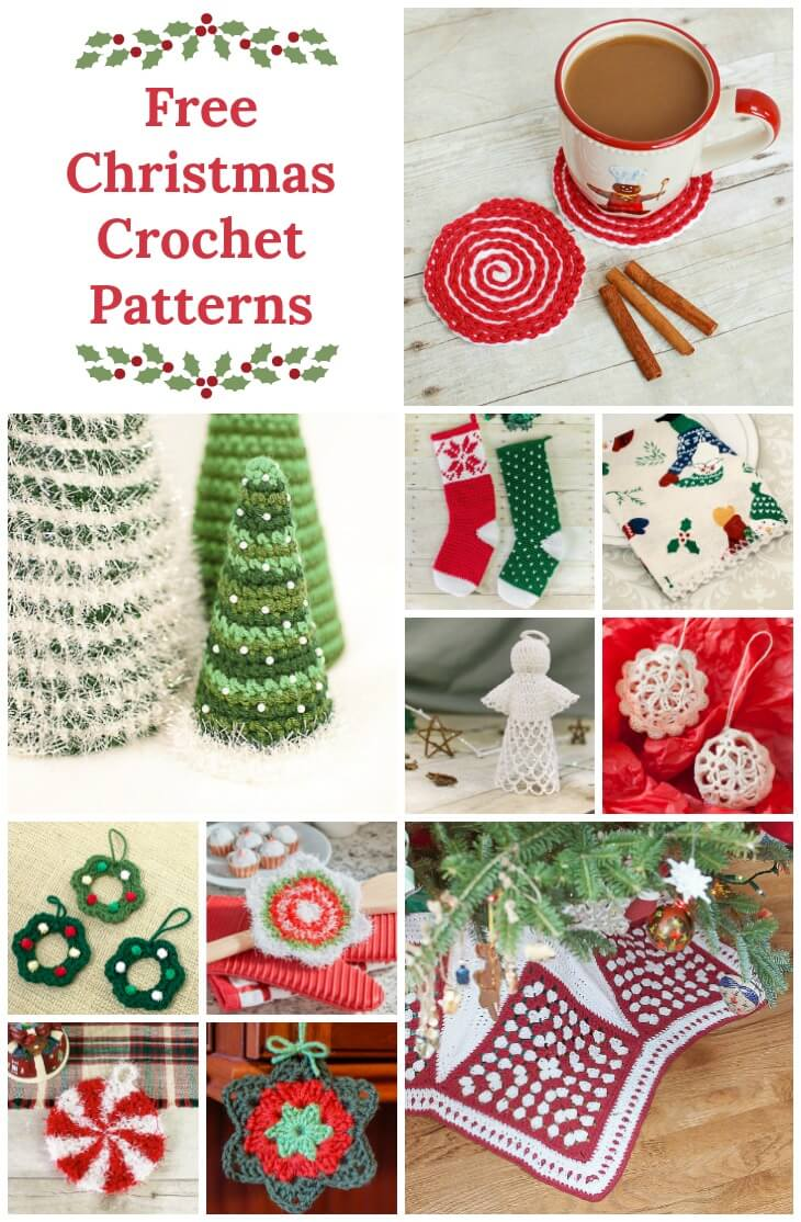 From decking the halls to trimming the tree ... here are some of my favorite Christmas crochet ideas! #petalstopicots
