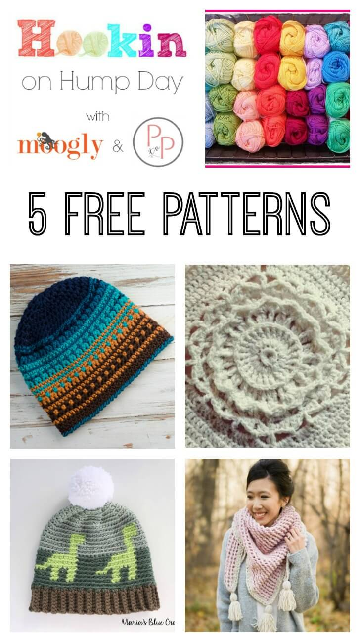 Awesome free patterns on Hookin' on Hump Day! #crochet #knit