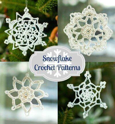Add a touch of whimsy to those dark winter days with these free crochet snowflake patterns.  #petalstopicots