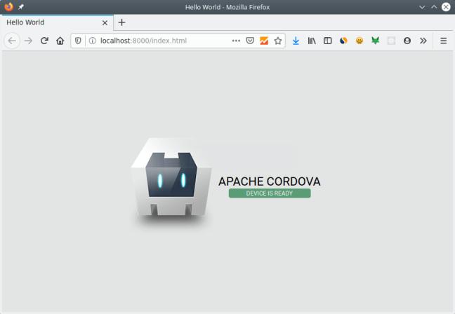 Menjalankan aplikasi cordova di browser