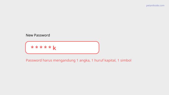 new password validation