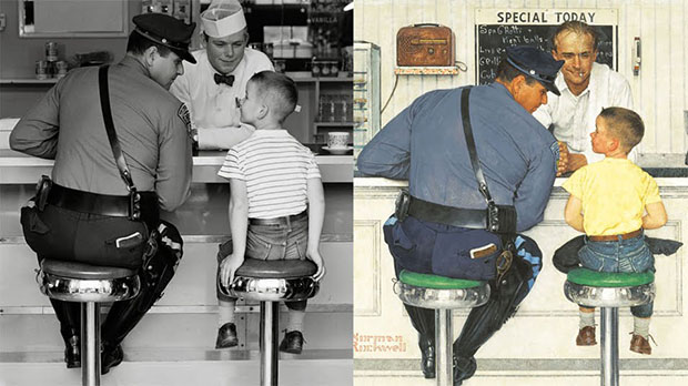 The Photographs Norman Rockwell Used to Create His Famous Paintings norman1