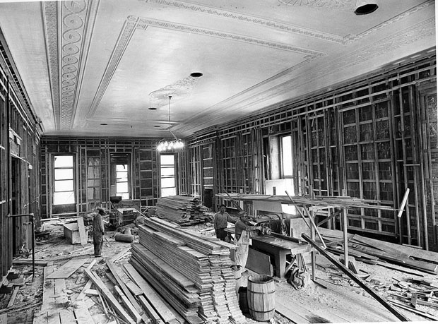 Photos of the White House Gutted During Its Truman Reconstruction 40HD4RE