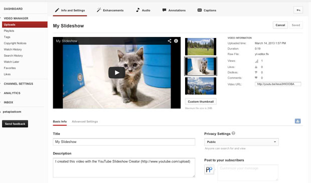 YouTube Can Turn Your Photographs into a Slideshow In Just Minutes final