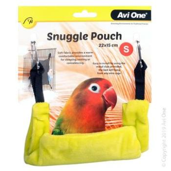 AVI ONE BIRD SNUGGLE POUCH SMALL LIME 22X15CM