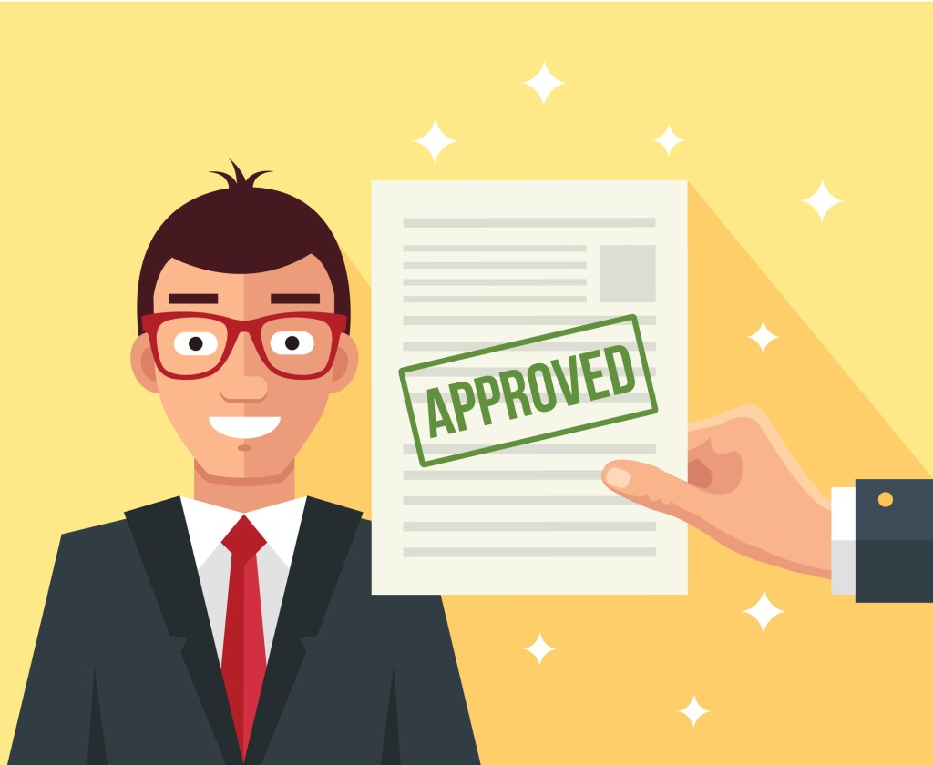 Business loan approved