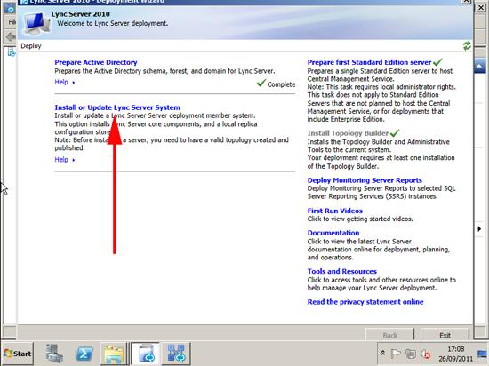 Install or update Lync
