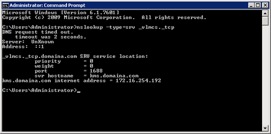Query KMS DNS Record