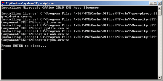 KMS Server Updated for Office 2010