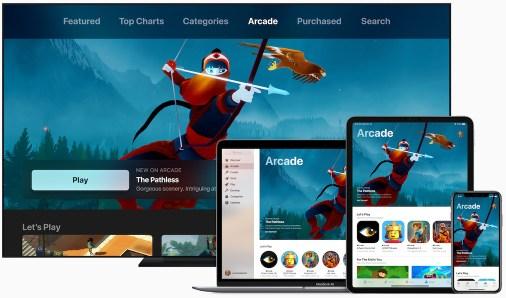 Apple introduces apple arcade apple tv ipad pro iphone xs macbook pro 03252019