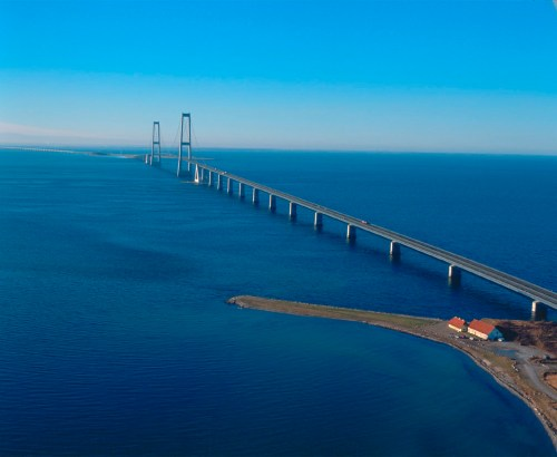 Oeresund Bridge between Sweden and Denmark