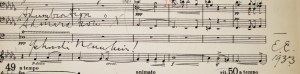 Just found this-Elgar's hidden personal dedication to Menuhin 'Adumbration, Admiration' 1933 in the score of the Violin concerto.http://www.peter-sheppard-skaerved.com/2009/12/elgar-and-heifetzs-third-finger/