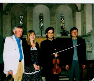 Composers David Matthews, Sadie Harrison, Pavel Novak. Barfrestone Church, Deal Festival 2004.