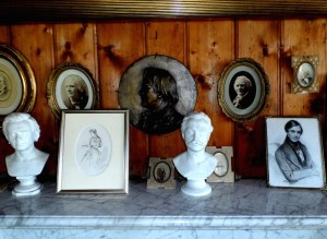 Mantelpiece in the concert room. Note the bust of Svendsen, who made two beautiful versions of  the Saeter Girl's Sunday. 30-9-13