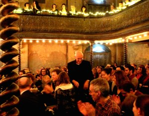 The composer and his audience-the packed Wilton's Music Hall acclaims Finnissy, after the premiere of 'Civilisation' 12 11 13