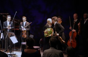 Celebrating Gloria Coates?. The end of an extraordinary concert, and an amazing week. Also onstage, Roderick Chadwick?. Mihailo Trandafilovski?, composer Elena Tarabanova,Neil Heyde, Morgan Goff?. A huge thankyou toe Musica Femina München, for their vision and work, putting this day on. . http://www.peter-sheppard-skaerved.com/2015/06/gloria-coates-piano-quintet-premiere-eine-amerikanerin-in-munchen/
