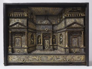 Cabinet, with damascene embellishments. Milan, ca. 1580. Waddesdon Room British Museum