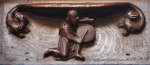 Misericord: Exeter Cathedral (14th Century( In that open field If you do not come too close, if you do not come too close, On a summer midnight, you can hear the music Of the weak pipe and the little drum