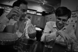 Composers Evis Sammoutis and Jorge Villavicencio Grossmann; work over! 13 9 16