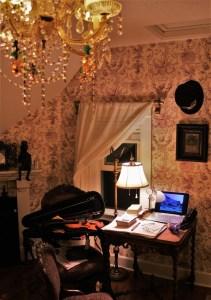 The work begins here, my practice desk in Stillwater MN. 111116