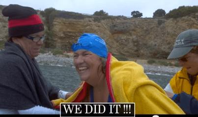 Pat Gallant-Charette sets swim records.