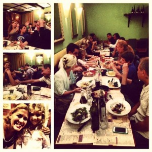 Dinner with Franco, Maria Paola and family.