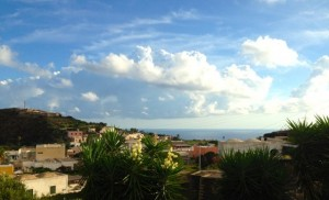 Our morning view in Pantelleria.