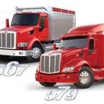 Model 567 and 579 Peterbilt trucks