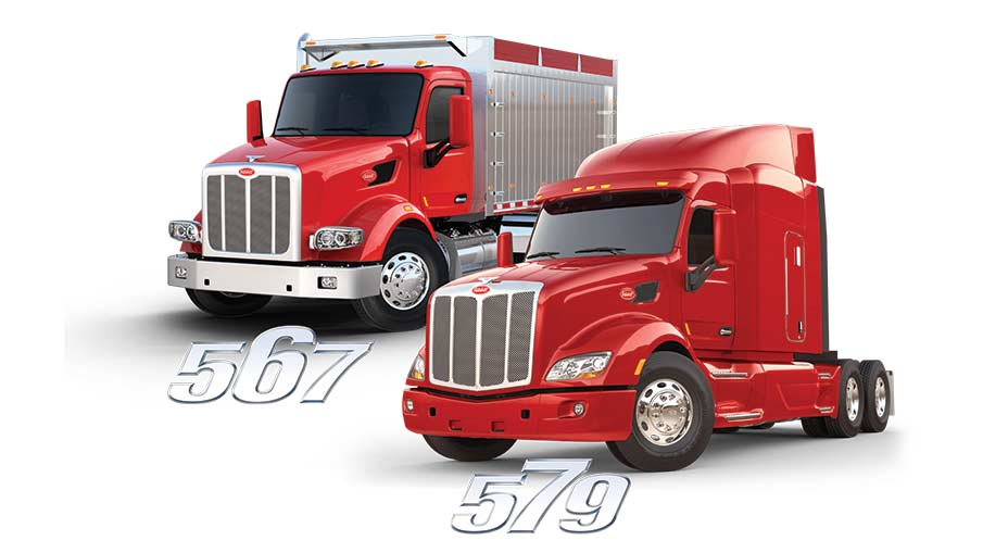 Model 567 and 579 Peterbilt trucks